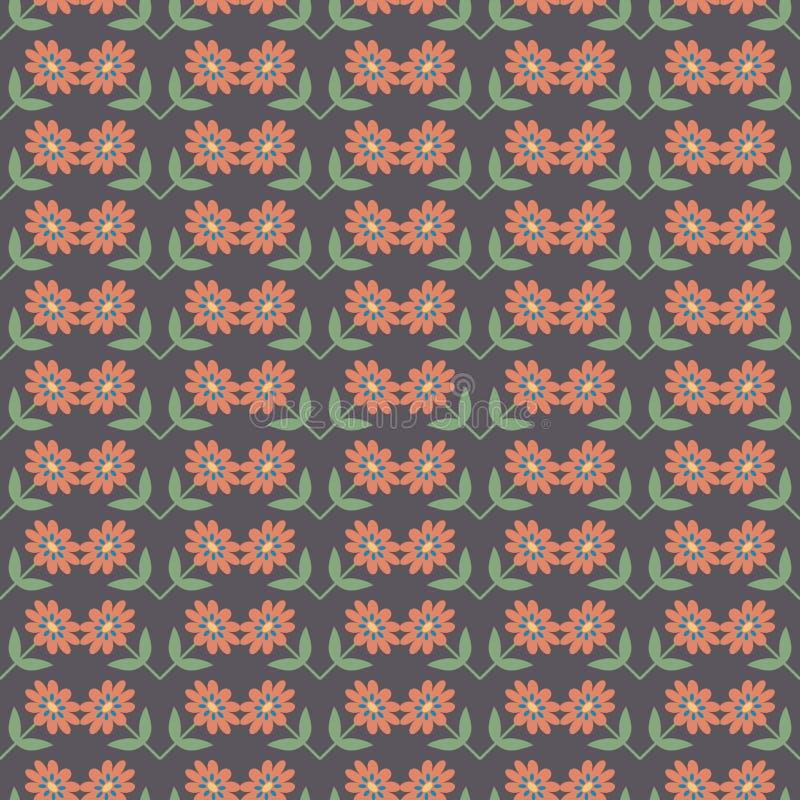 Download Fond Avec Le Modèle De Fleurs Abstrait Illustration de Vecteur - Illustration du seamless, coloré: 76080645