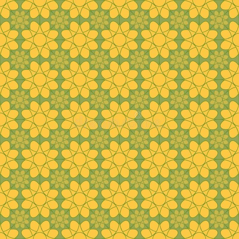 Download Fond Avec Le Modèle De Fleurs Abstrait Illustration de Vecteur - Illustration du décoratif, textile: 76081755