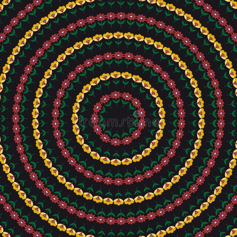 Download Fond Avec Le Modèle De Fleurs Abstrait De Cercle Illustration de Vecteur - Illustration du papier, cercle: 76080837