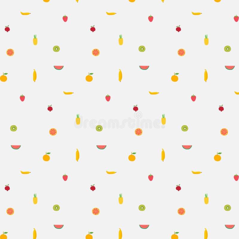 Fond avec le modèle de fruits illustration stock