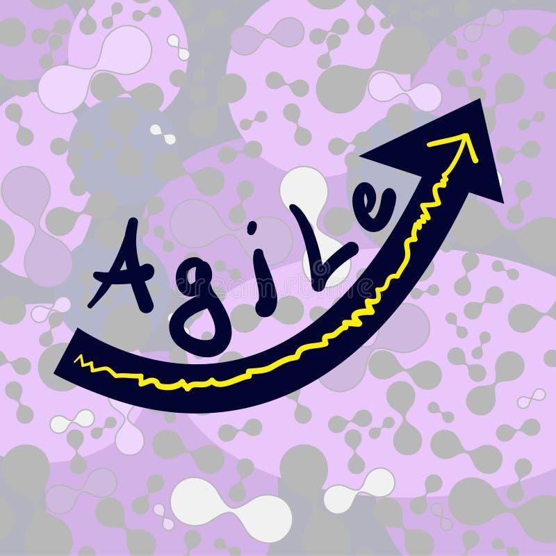 Fond avec le mot agile illustration stock