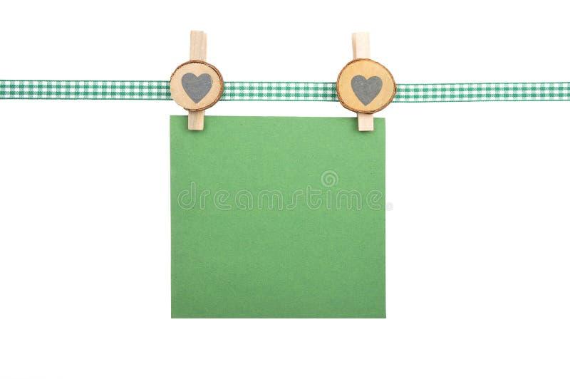 Fond avec le ruban à carreaux et le papier images stock