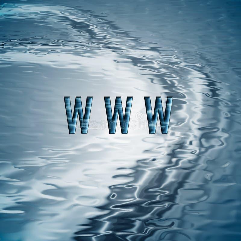 Fond avec le symbole de WWW. illustration libre de droits