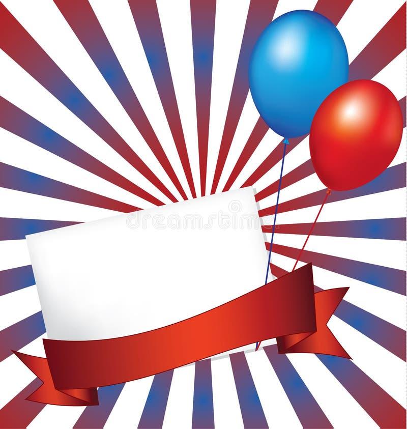Fond avec les ballons de fête illustration libre de droits