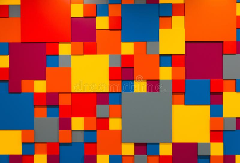 Fond avec les cubes colorés photo stock