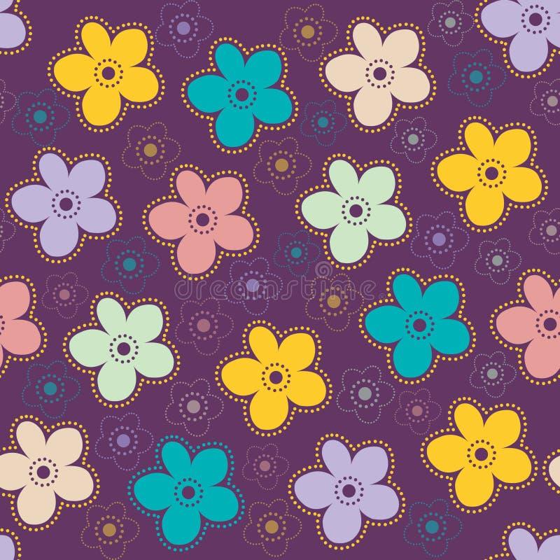 Fond avec les fleurs stylisées illustration libre de droits