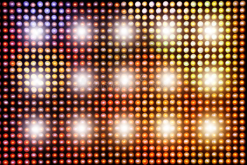 Fond avec les lumières lumineuses brillantes de LED illustration stock