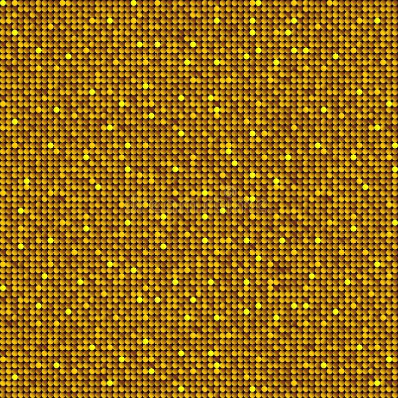 Fond avec les paillettes brillantes d'or illustration de vecteur