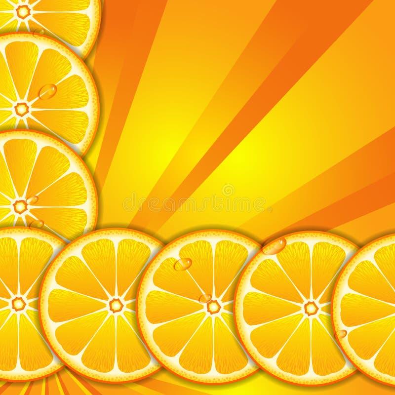 Fond avec les parts oranges illustration stock