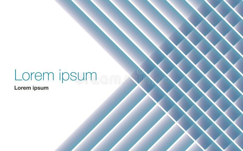 Fond avec les rayures et les lignes abstraites Conception de glissière de couverture de titre de présentation d'affaires illustration de vecteur