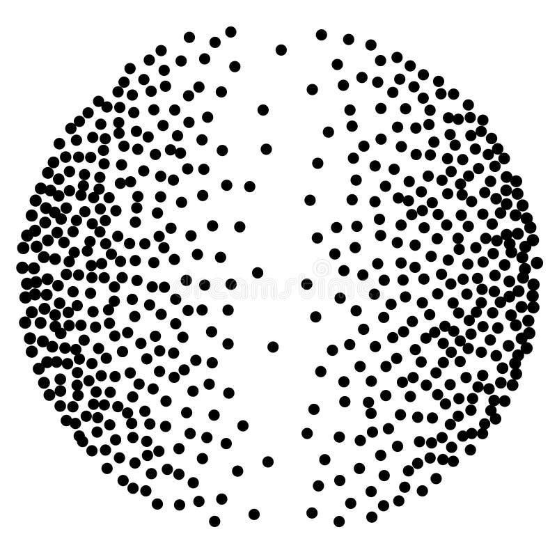 Fond avec les taches brunes aléatoires Modèle élégant avec les points de polka noirs illustration de vecteur