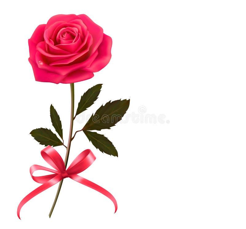 Fond avec rose et un arc illustration de vecteur