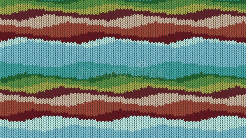 Fond avec une texture tricotée, imitation de laine Lignes diverses multicolores images libres de droits