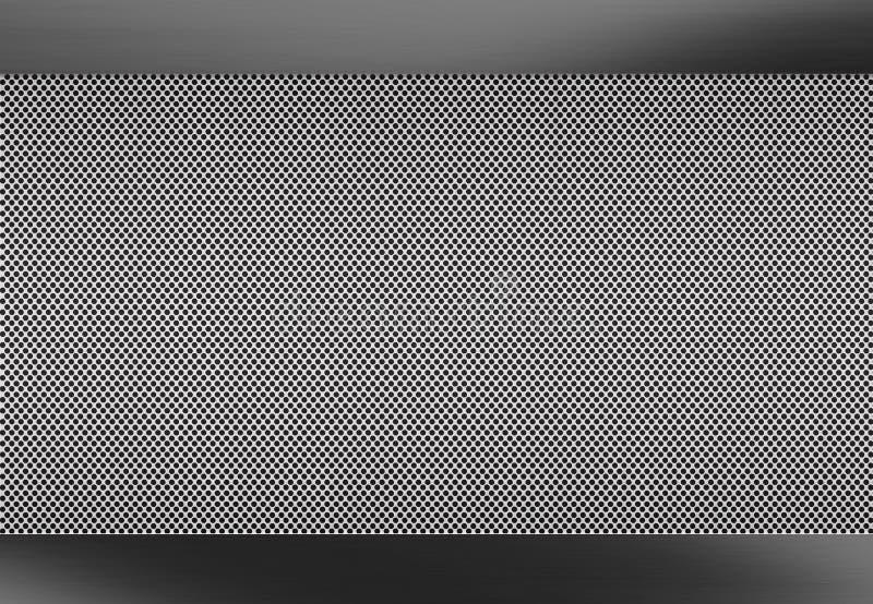 Fond balayé par métal, surface métallique perforée illustration stock
