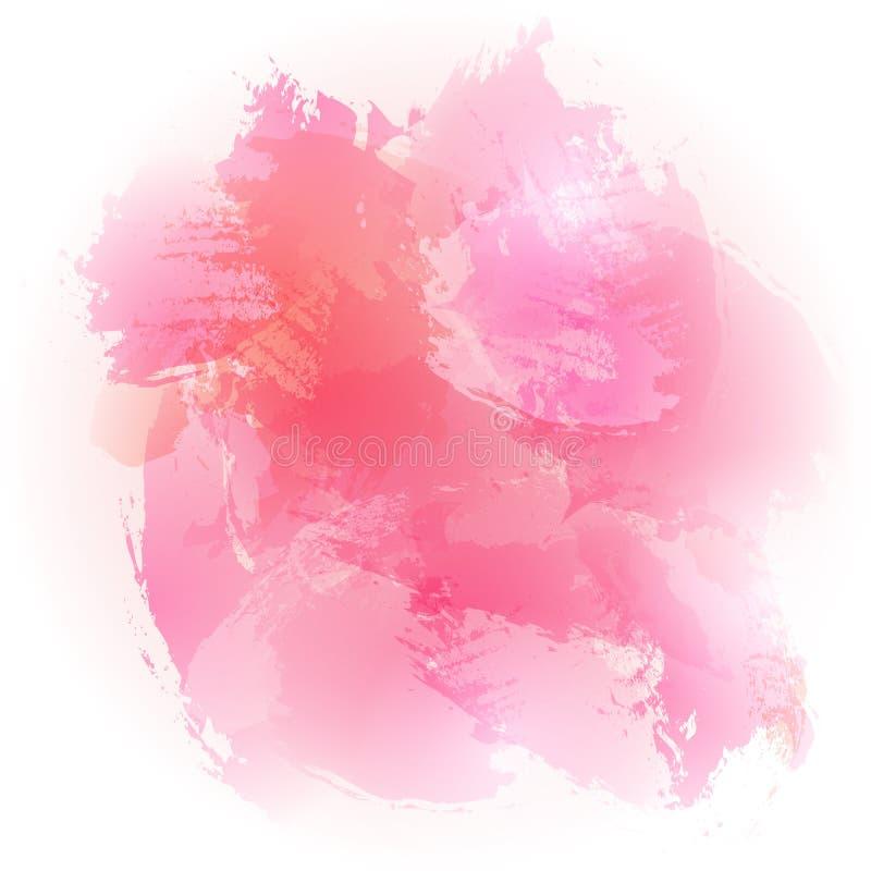 Fond balayé par rose d'aquarelle illustration stock