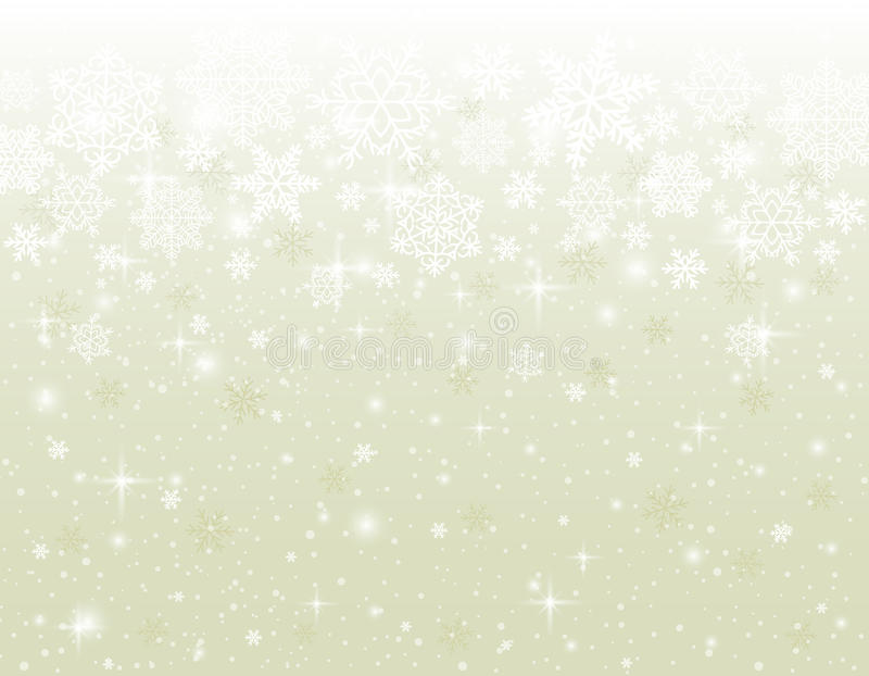 Fond beige avec des flocons de neige illustration libre de droits