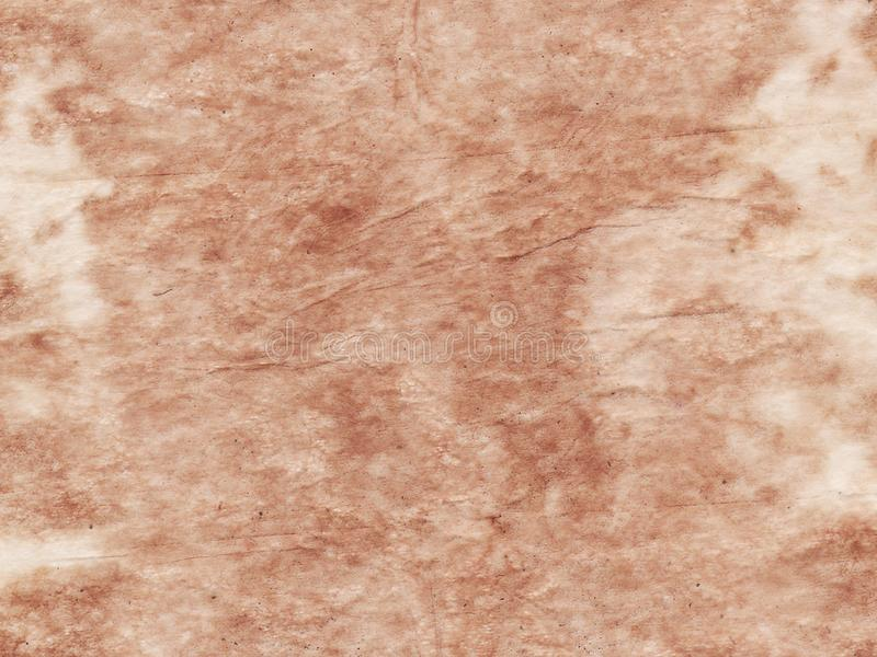 Fond beige de vieille feuille de papier texturisée de grunge Copiez l'espace Parchemin de vintage photo libre de droits