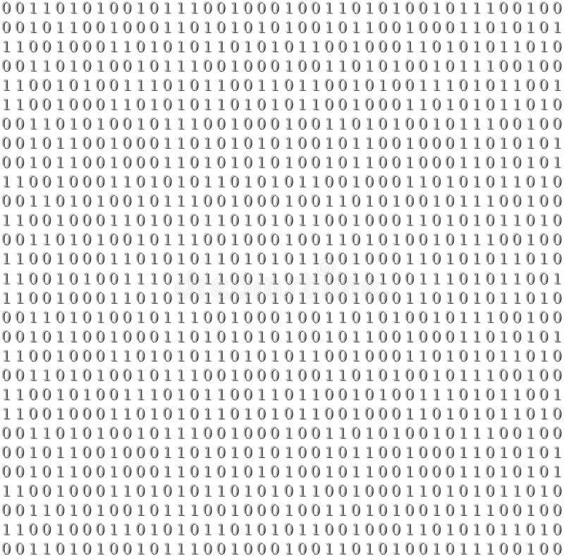 Fond binaire de gris de vecteur de code de système illustration de vecteur