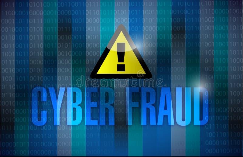 Fond binaire foncé de fraude de Cyber illustration libre de droits