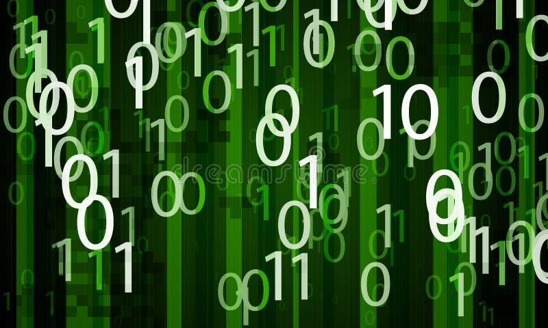 Fond binaire numérique abstrait illustration stock