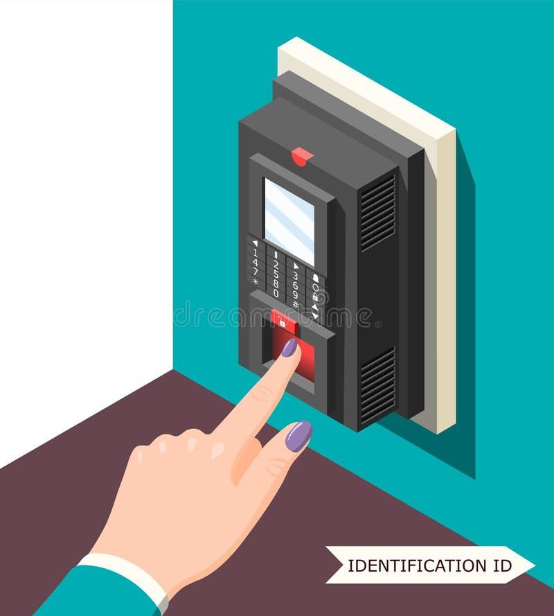 Fond biométrique d'identification illustration stock