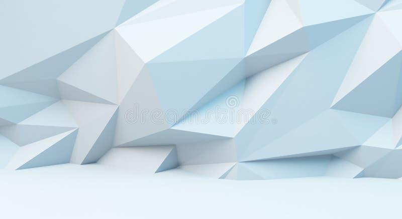 Fond blanc abstrait avec le modèle polygonal image 3d illustration de vecteur