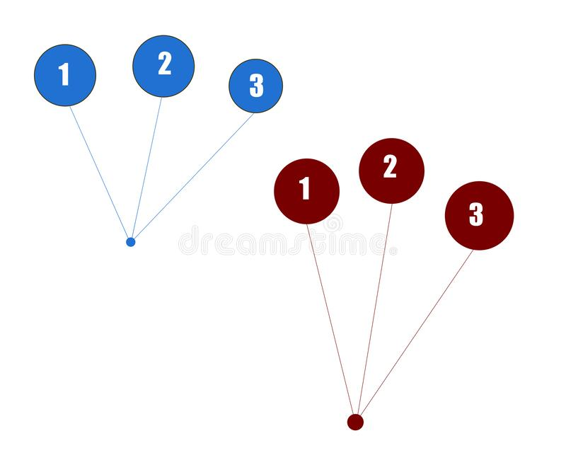 Fond blanc abstrait avec les cercles numérotés illustration de vecteur