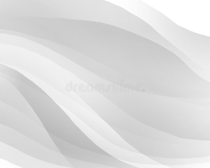 Fond blanc abstrait avec les lignes douces illustration de vecteur