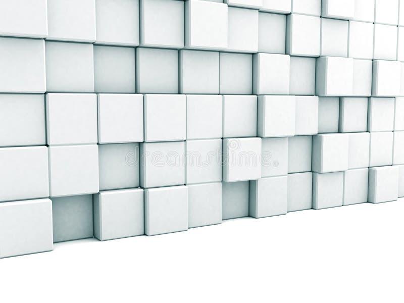 Fond blanc abstrait d'architecture Mur de blocs illustration libre de droits