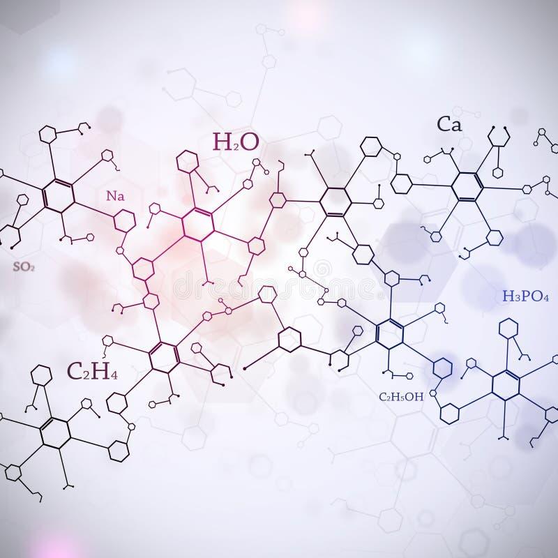 Fond blanc abstrait de la Science image libre de droits