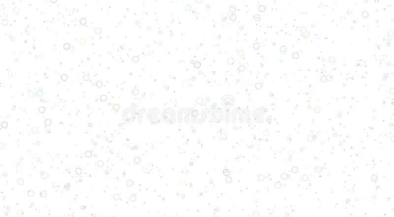 Fond blanc avec des bulles grandes et petites bulles de m?lange photographie stock libre de droits