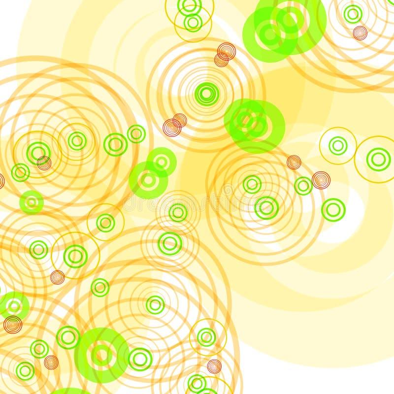 Fond blanc avec des cercles illustration de vecteur