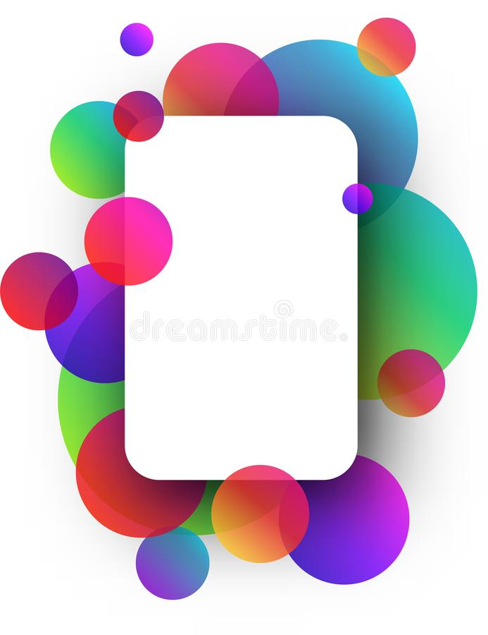 Fond blanc avec des cercles de couleur illustration de vecteur