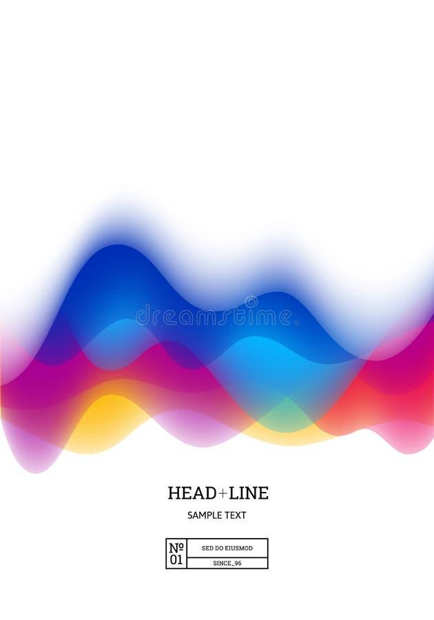 Fond blanc avec l'onde sonore abstraite colorée Illustration de vecteur de rythme Les bannières et les affiches conçoivent illustration libre de droits