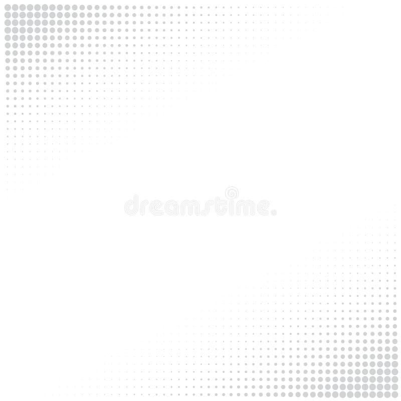 Fond blanc avec les points gris illustration libre de droits