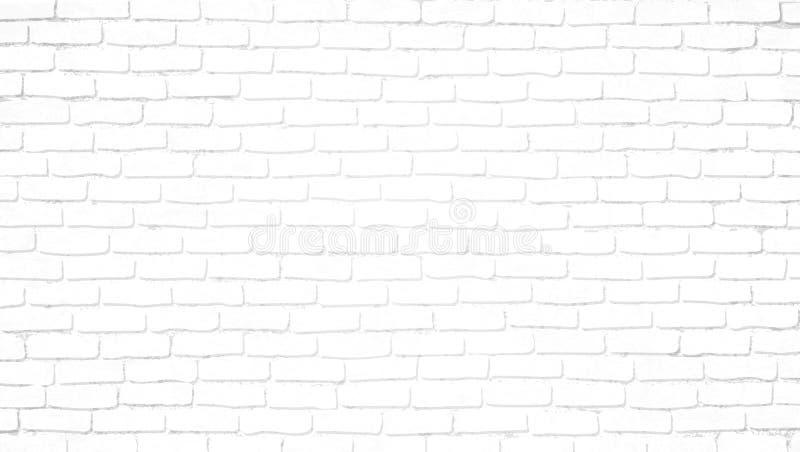 Fond blanc clair réaliste de mur de briques Texture recouverte affligée de vieille brique, modèle tramé abstrait grunge illustration libre de droits