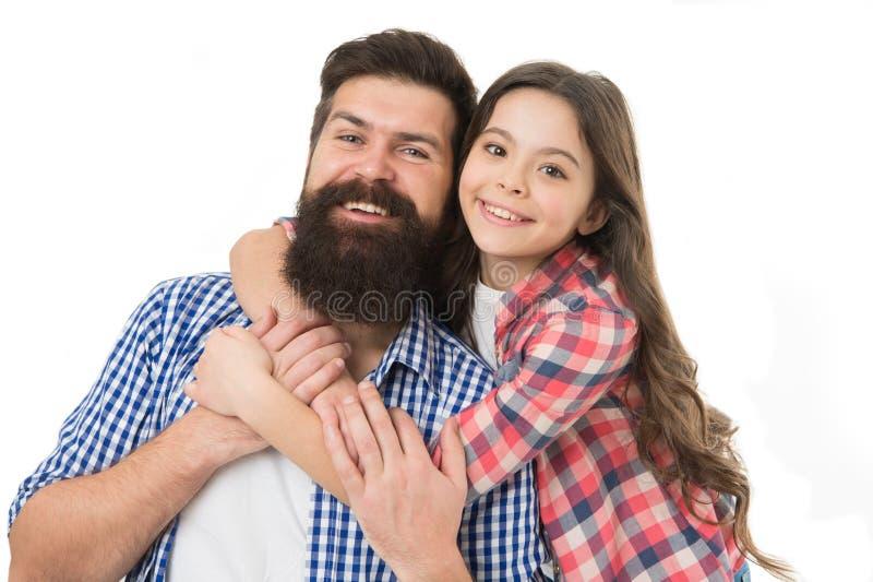 Fond blanc d'étreinte de père et de fille Le meilleur papa jamais Meilleurs amis d'enfant et de papa Relations amicales Condition photo libre de droits