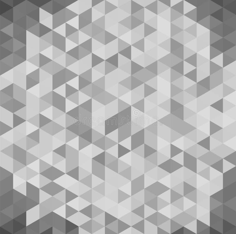 fond blanc 3D et gris géométrique abstrait et texture de vue isométrique de triangle illustration libre de droits