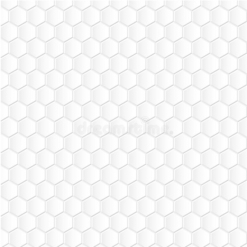 Fond blanc d'hexagone illustration stock