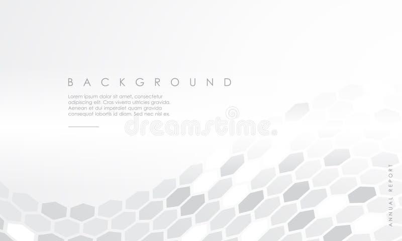 Fond blanc d'hexagone de papier abstrait Illustration EPS10 de vecteur illustration de vecteur