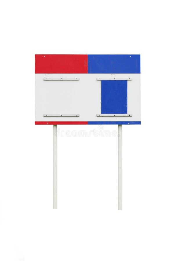 Fond blanc d'isolement scoreboard photo libre de droits