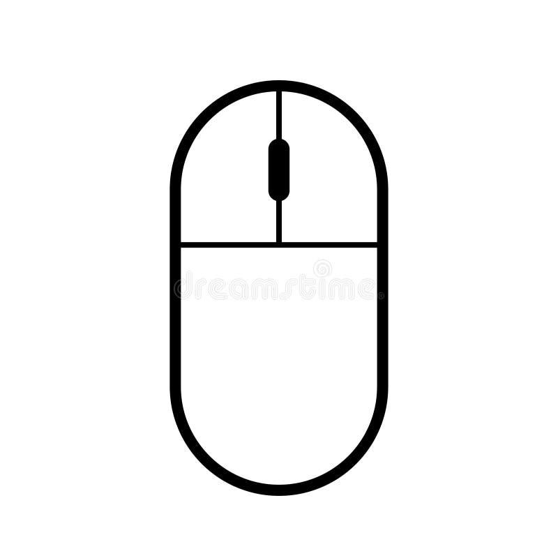 Fond blanc d'ordinateur d'icône sans fil moderne de souris illustration stock