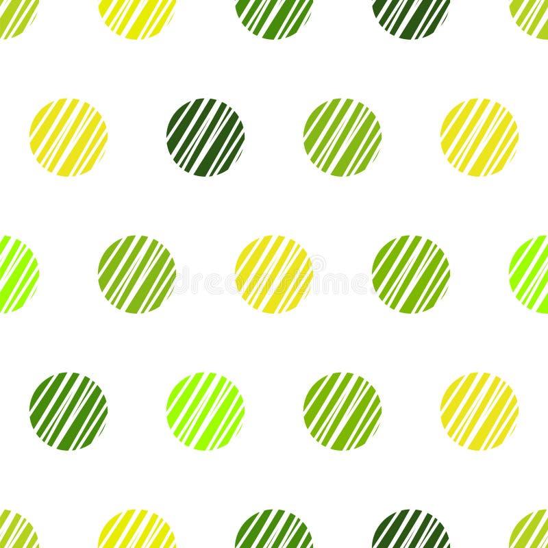 Fond vert de cru avec les points de polka grunges illustration stock