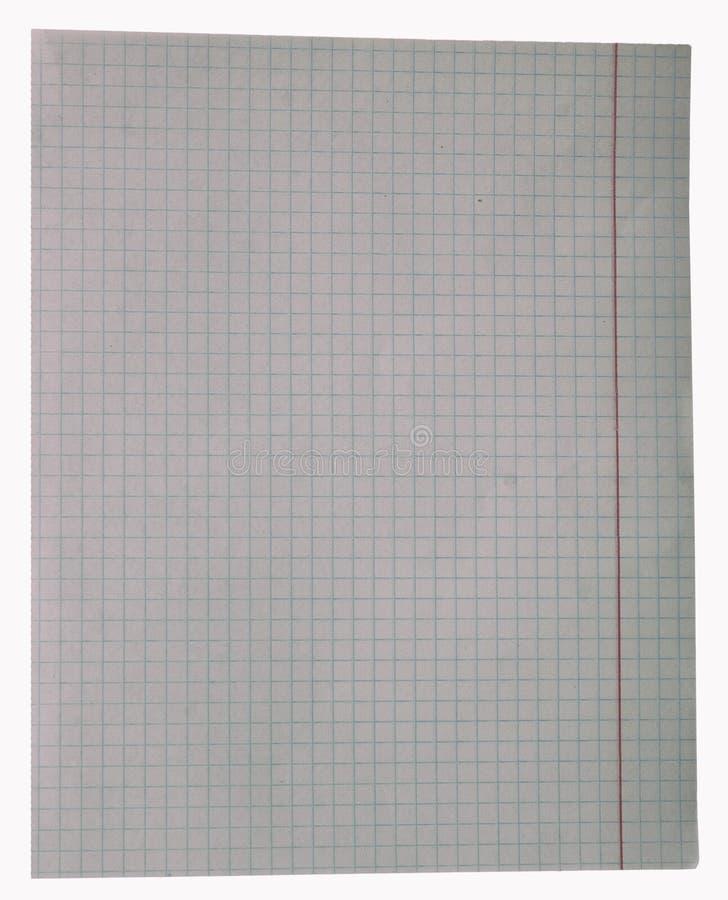 Fond blanc de feuille de papier carré photos libres de droits
