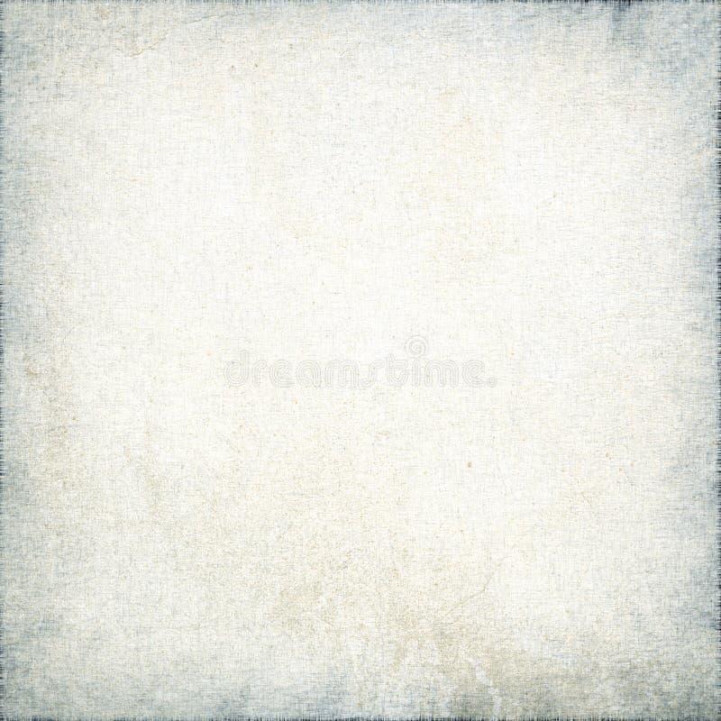 Fond blanc de grunge de vignette de texture de toile illustration stock