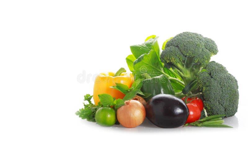Fond blanc de légumes image libre de droits
