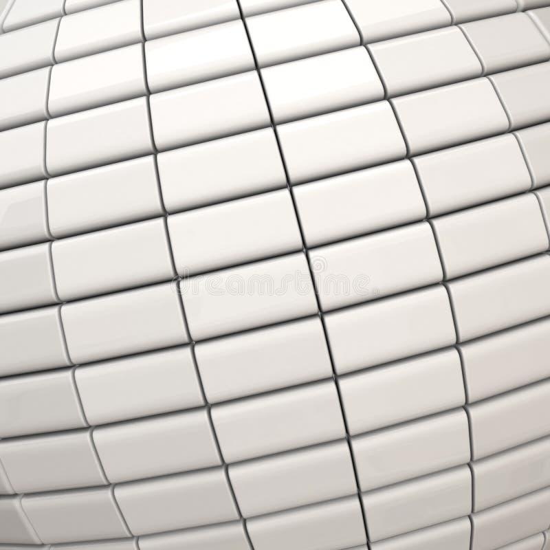 Fond blanc de l'abstrait 3d illustration stock