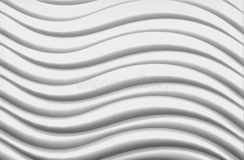 Fond blanc de modèle de vague photos libres de droits