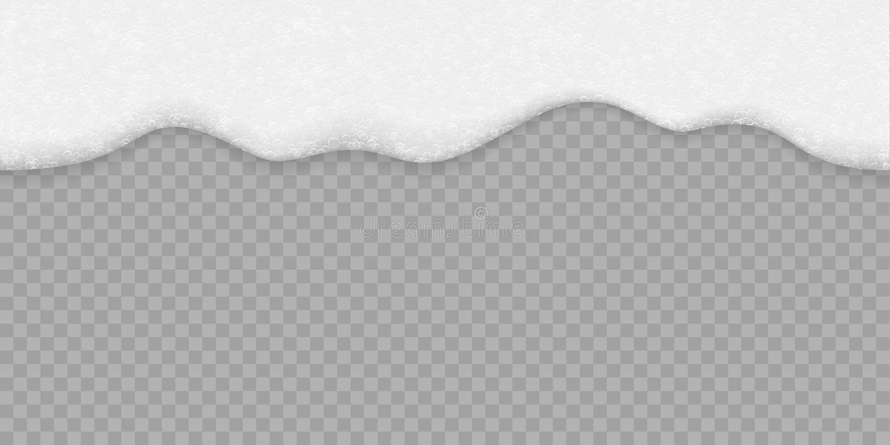 Fond blanc de mousse de bulle de savon Bière de vecteur, eau de shampooing ou de mer et texture sans couture de mousse de bain illustration libre de droits