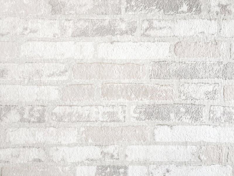 Fond blanc de mur de briques Texture de béton faite à partir du matériel en pierre photographie stock libre de droits
